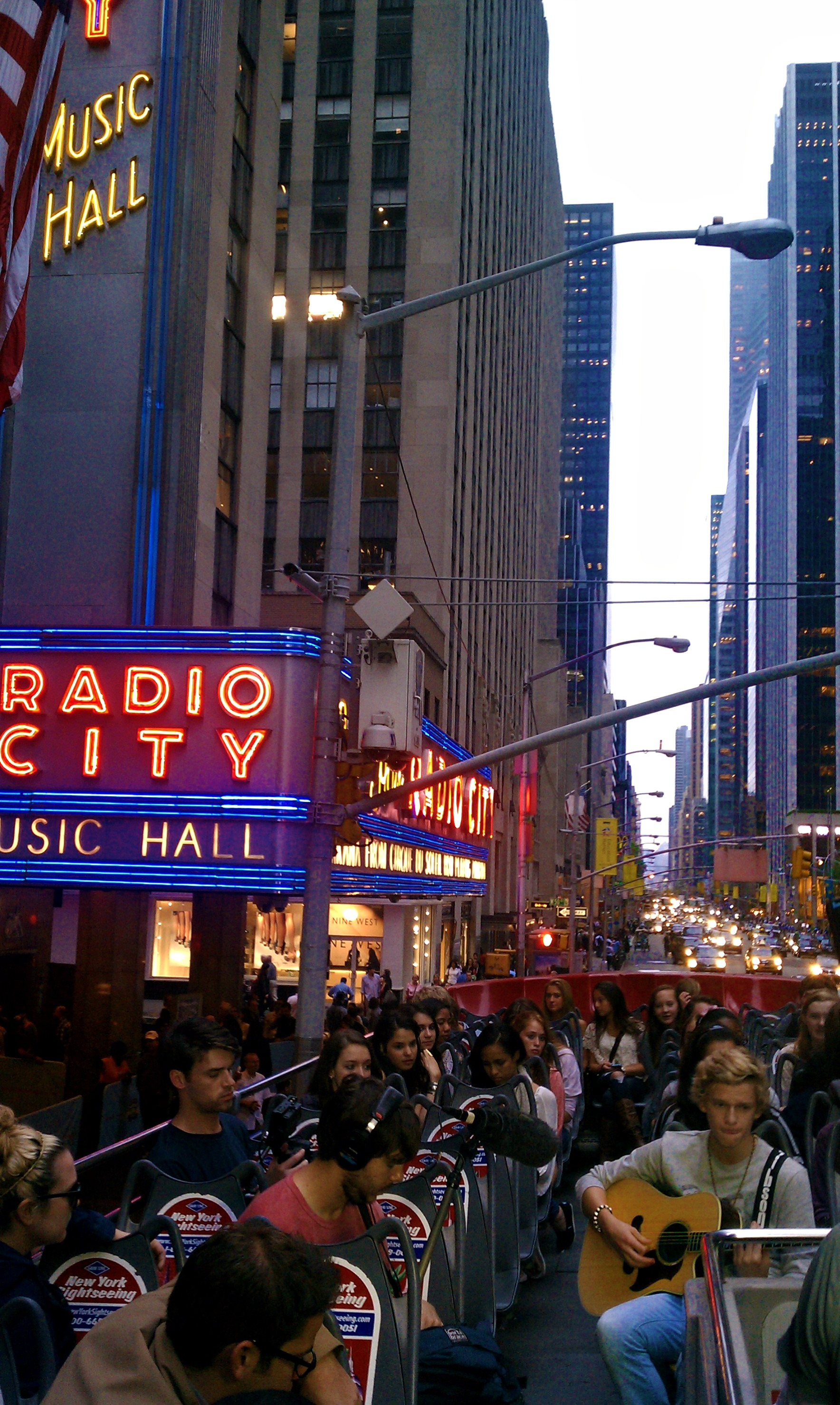 Cody Simpson Double-Decker Bus Performance In NYC