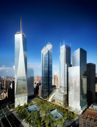 The future World Trade Center after construction.