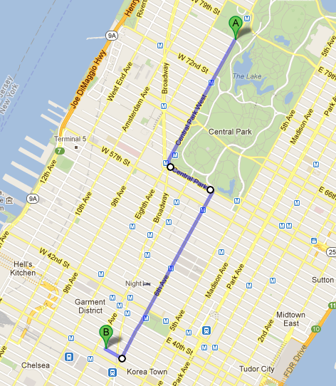 Macy's Parade route