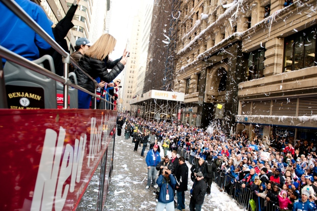 The Giants winning the Super Bowl was the 2nd best moment in NYC this year